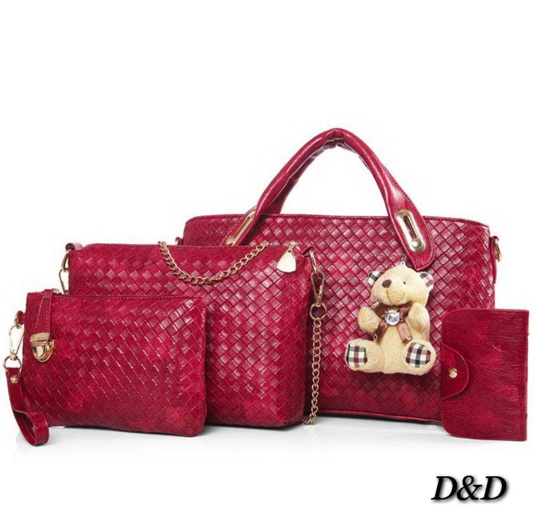 Набор женских сумок красный