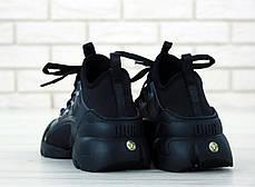Женские кроссовки Dior D-Connect Black черные. ТОП реплика ААА класса., фото 3
