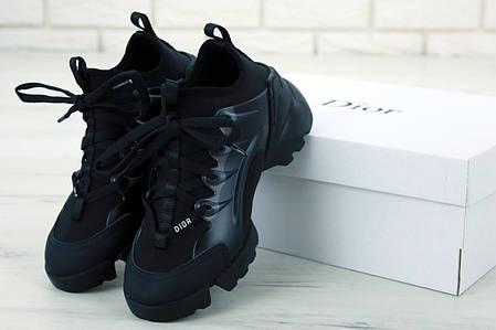 Женские кроссовки Dior D-Connect Black черные. ТОП реплика ААА класса., фото 2