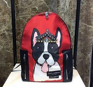 Рюкзак в стиле Dolce&Gabbana Красный