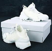 Женские кроссовки Dior D-Connect Black белые. ТОП реплика ААА класса., фото 3