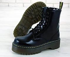 Женские ботинки Dr.Martens Black JADON кожа, демисезон черные. ТОП Реплика ААА класса.