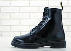 Зимние женские ботинки dr.martens mono black. ТОП Реплика ААА класса., фото 3
