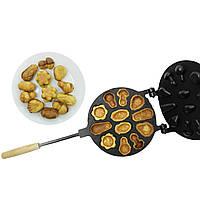 Форма для выпечки орешков и печенья орешница «Лесное Ассорти» (большая) с антипригарным / тефлоновым покрытием