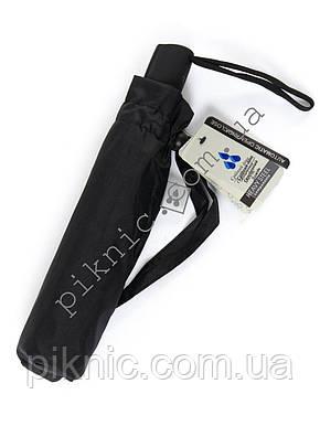 Маленький мужской зонт от дождя автомат: 3 сложения. Антиветер. Диаметр купола 97 см., фото 2
