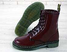Зимние женские ботинки dr.martens brown. ТОП Реплика ААА класса., фото 3