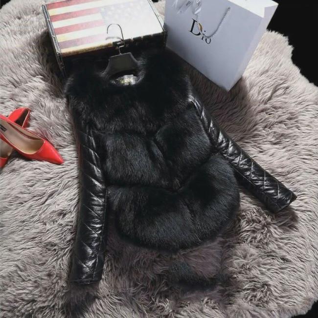 Женская меховая курточка чёрная из искусственного меха Купить недорого в интернет-магазине Украина!