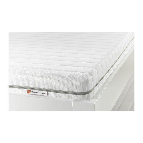 "IKEA ""МАЛФОРС"" Пенополиуретановый матрас, средней жесткости, белый 80х200 см"