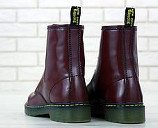 Женские ботинки Dr.Martens Brown кожа, демисезон черные. ТОП Реплика ААА класса., фото 2