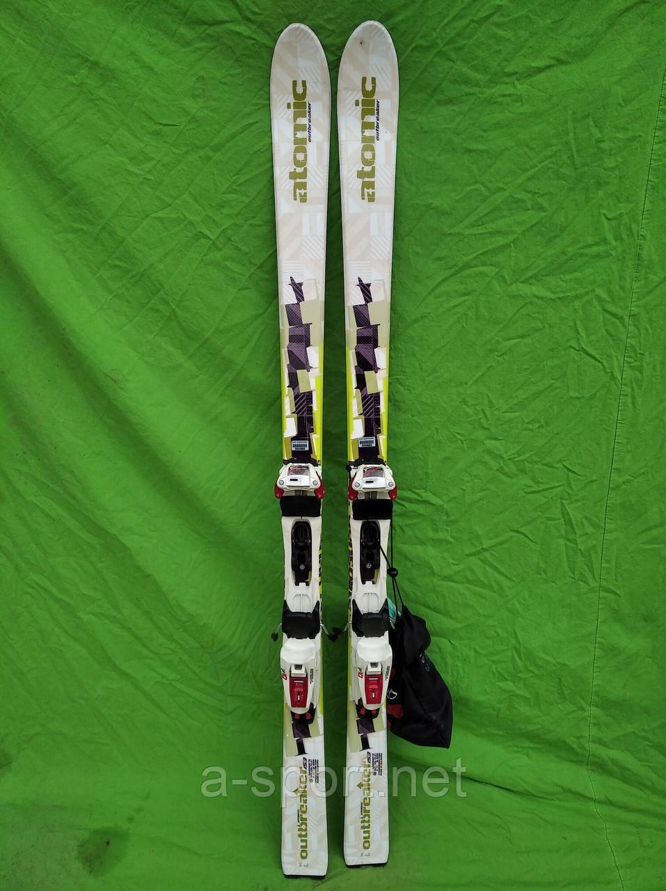 Atomic outbreaker 151 см гірські лижі для скітуру + marker tour + камус