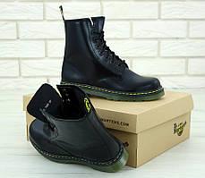 Женские ботинки Dr.Martens Black кожа, демисезон черные. ТОП Реплика ААА класса., фото 3