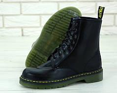Женские ботинки Dr.Martens Black кожа, демисезон черные. ТОП Реплика ААА класса.
