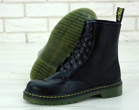 Женские ботинки Dr.Martens Black кожа, демисезон черные. ТОП Реплика ААА класса., фото 2