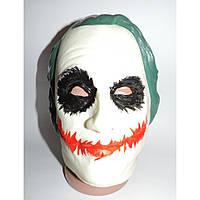 Маскарадная маска Джокера резиновая на вечеринку
