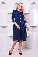 Женское платье Джэйн синее( бирюза полоса)