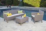 Набір садових меблів Salemo 3 Seater Set зі штучного ротанга ( Allibert by Keter ), фото 7