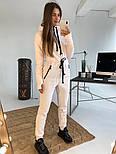 Женский теплый комбинезон на флисе с капюшоном (в расцветках), фото 7