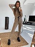 Женский теплый комбинезон на флисе с капюшоном (в расцветках), фото 8