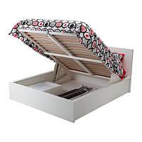 """ИКЕА """"МАЛЬМ"""" Кровать с подъемным механизмом, белый 160*200см"""