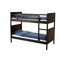 """ИКЕА """"НОРДАЛЬ"""" Каркас 2-ярусной кровати (две кровати в одной), черно-коричневый"""