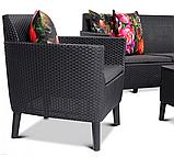 Набір садових меблів Salemo 3 Seater Set зі штучного ротанга ( Allibert by Keter ), фото 10