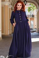 Платье женское длинное демисезонное двунить больших батальных размеров 42-60 Турция