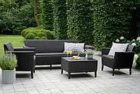 Набор садовой мебели Salemo 3 Seater Set Graphite ( графит ) из искусственного ротанга, фото 1