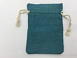 Чехол для рун, мешочек 7х10 см. Изумрудный, фото 2