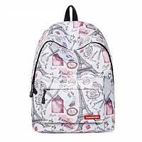 Школьный рюкзак Эйфелева башня Париж для девушек подростковый