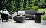 Набір садових меблів Salemo 3 Seater Set Graphite ( графіт ) з штучного ротанга ( Allibert by Keter ), фото 7