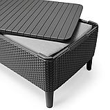 Набір садових меблів Salemo 3 Seater Set Graphite ( графіт ) з штучного ротанга ( Allibert by Keter ), фото 10