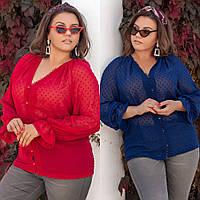 Блузка женская стильная, большого размера, повседневная,офисная, молодежная, длинный рукав, до 60 р-ра