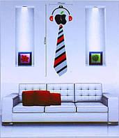 Настінні об'ємні годинник-наклейка на стіну Краватка B5825-011