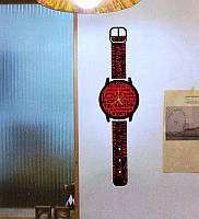 Настенные объемные часы-наклейка на стену Наручные часы