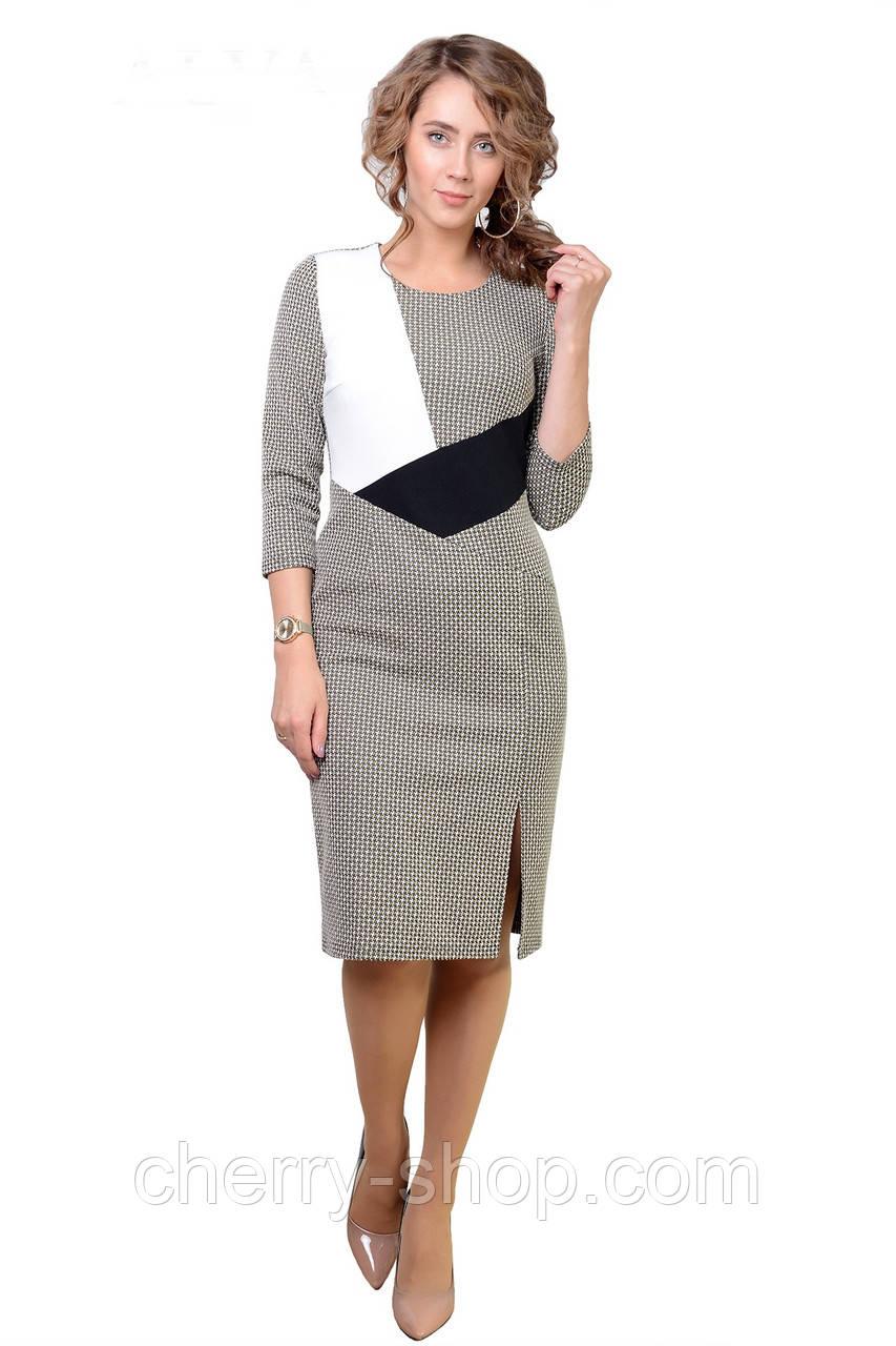 Деловое женское платье в размере 46,48,50,52