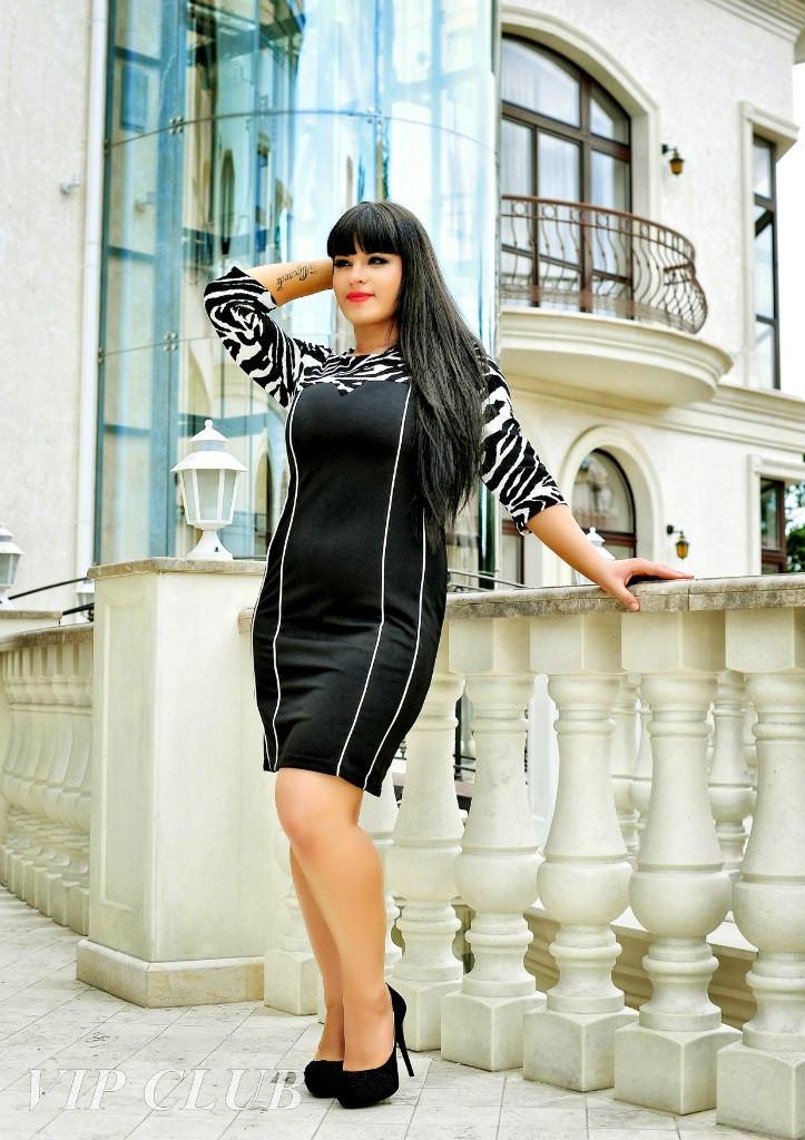 """В1651/1 Платье """"Зебра"""" размер 50-54"""