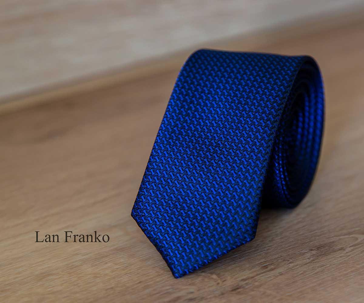 Галстук мужской узкий с рисунком | Lan Franko (Арт.: GMUR-LF150)