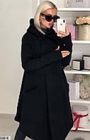 Пальто-кардиган женский демисезонный трехнить размер 42--46 универсальный
