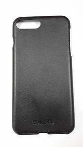 Чехол-накладка кожа Valenta Apple iPhone 7 Plus Черный (С-1221)