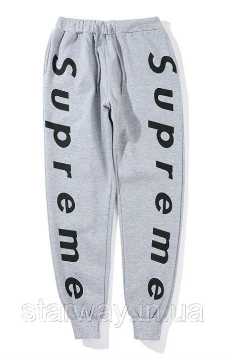 Трикотажные стильные штаны Supreme double logo