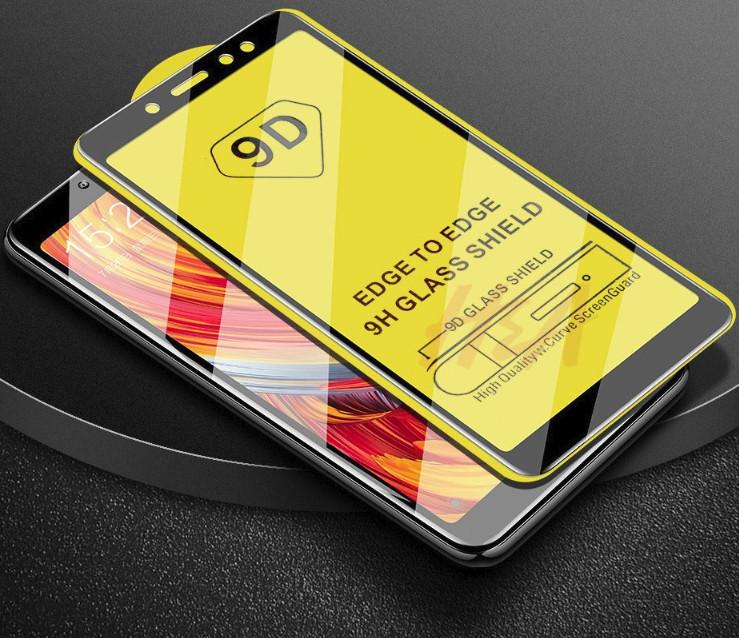 Защитное стекло 9D полная проклейка Samsung Galaxy A7 2018 9H захисне скло