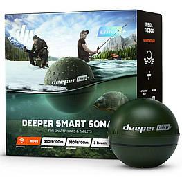 Смарт эхолот Deeper Smart Sonar CHIRP + трехлучевой,беспроводной,противоударный картплоттер