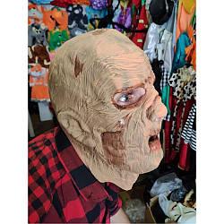 Маскарадная маска страшная Мумия резиновая на голову