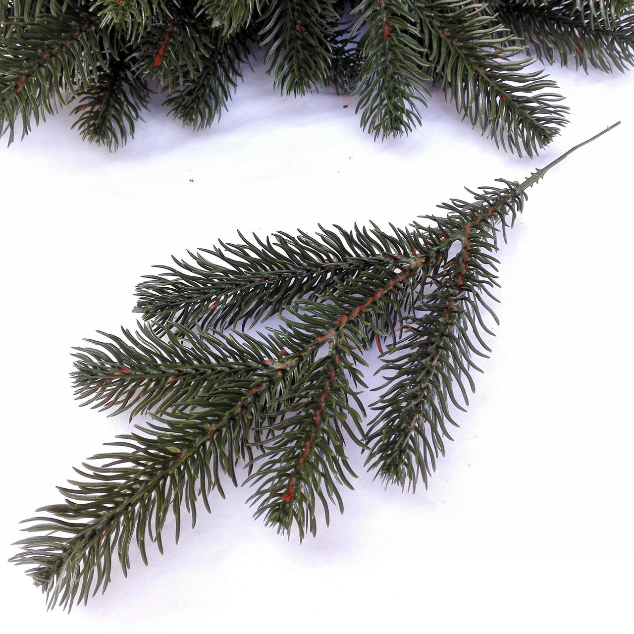 Ветка ели литая зеленая 32 см (от 10 шт)