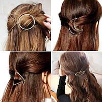 Заколка для волос Формы (цвет серебро или золото на выбор), фото 1