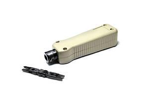 Сенсорный монтажный инструмент LPT-91 для заделки проводов в плинты, патч-панели и розетки.