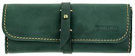 Кожаный футляр для очков Valenta Зеленый (О-8 зеленый)