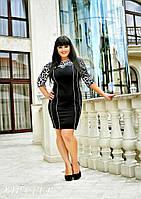 """В1651/2 Платье """"Леопард"""" размер 50-54"""