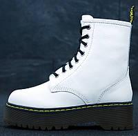 Женские зимние ботинки Dr. Martens Jadon белые без меха 36-40рр. Реальное фото. Топ реплика