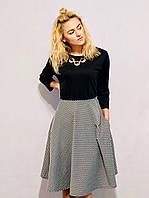 Модные двухцветные платья, больших размеров 48-60